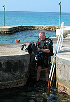 Easy beach diving at Scuba Club Cozumel